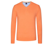 Basic V-Neck Pullover in Orange