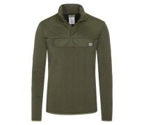 Sweatshirt in modischer Struktur in Oliv