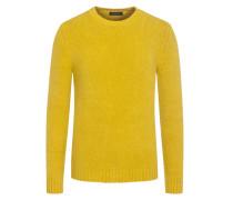 Pullover mit Stretchanteil in Gelb