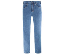 5-Pocket-Jeans mit Stretchanteil, Freddy in Blau