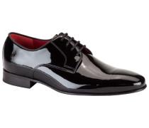 Klassische Lackleder Schuhe, Derby in Schwarz