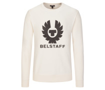 Pullover mit Logo-Print in Offwhite