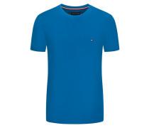 T-Shirt, Unifarben, Slim Fit in Royal
