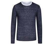 Sweatshirt, Double-Layer-Optik in Marine