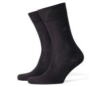 Socken, einfarbig in Schwarz