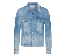 Destroyed-Jeansjacke in Denim