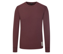 Sweatshirt mit Struktur-Muster in Bordeaux