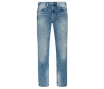 Jeans mit Stretchanteil, Relaxed Fit in Bleached