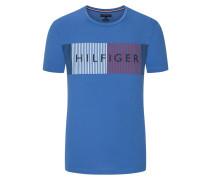 T-Shirt mit Frontprint in Blau