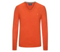 Stilvoller Pullover aus 100% Merinowolle in Orange