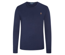 Sweatshirt, Custom Slim Fit in Marine