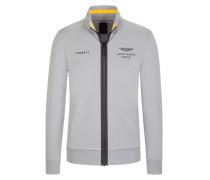 Sportliche Sweatjacke in Grau