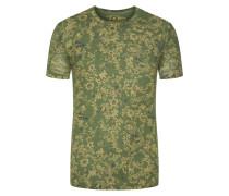 T-shirt, modischer Print in Oliv