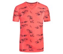 T-Shirt mit Allover-Print in Rot