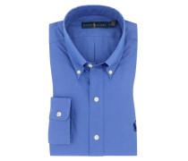 Oberhemd mit Button-Down in Blau