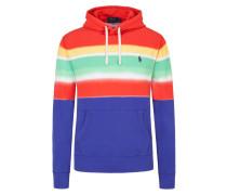 Sweatshirt in Batik-Optik in Rot