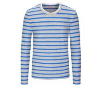 Gestreiftes Sweatshirt in Grau