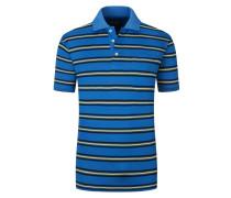 Poloshirt mit Brusttasche, gestreift in Blau