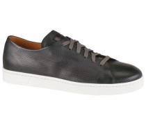 Ledersneaker in Grau