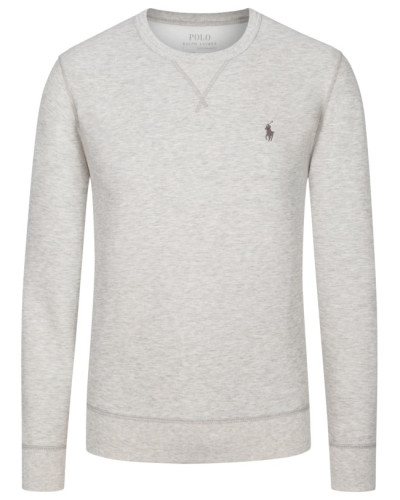 Modisches Sweatshirt in melierter Optik in Grau