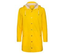 Modischer Regenmantel, wasserabweisend in Gelb