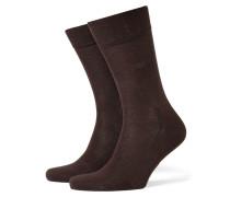 Socken, einfarbig in Braun
