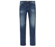 Modische Slim-Tapered Jeans im Used-Look, Buster