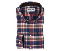 Flanellhemd mit Karo-Muster in Blau