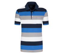 Poloshirt mit Streifen-Muster in Marine