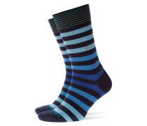 Socken mit Querstreifen in Marine