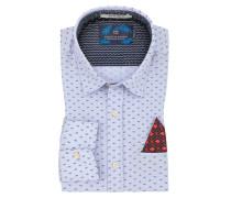 Freizeithemd mit modischem Muster in Blau
