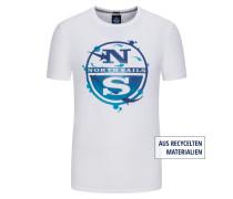T-Shirt mit Frontprint, Regular Fit in Weiss
