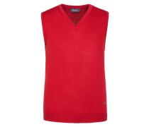 Pullunder, V-Ausschnitt in Rot