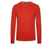Pullover aus 100% Merinwolle in Rost