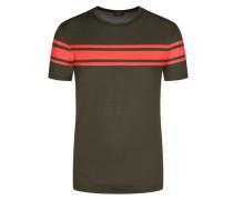 T-Shirt aus merzerisierter Baumwolle in Oliv