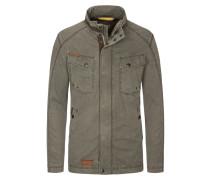 Leichte Jacke im Baumwollmix in Khaki