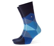 Weiche, gemusterte Socken in Blau