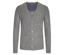 Strukturierter Cardigan in Anthrazit