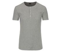 Geripptes Shirt in Grau