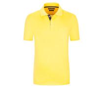 Poloshirt aus mercerisierter Baumwolle in Gelb
