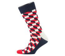 Socken in modischem Muster in Rot