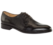 Businessschuh im Scotchgrain, Derby in Schwarz