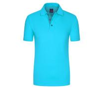 Regular Fit Poloshirt in Aqua