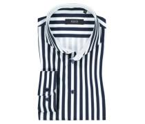 Jerseyhemd mit Streifen in Marine