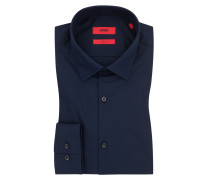 Slim Fit Businesshemd, uni in Marine