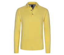 Pullover mit Polokragen in Gelb