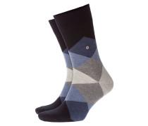 Weiche, gemusterte Socken in Denim