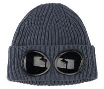 Mütze mit Strickmuster in Grau