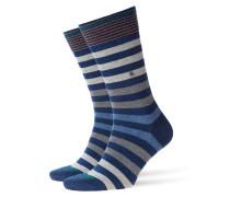 Socken mit Querstreifen in Denim