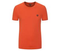 T-Shirt, O-Neck, Unifarben in Orange